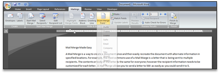 Mail Merge 101 – Easy! | Office Solutions ME